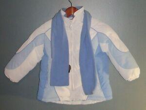 1 Madison, Blue and White winter coat, Size 4 USA