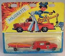 Majorette 1/80 Nº 331 pompier fire brigade camion POMPIERS & BATEAU Nº 2 ovp#434