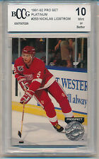 1991 Pro Set Platinum Nicklas Lidstrom (Rookie Card) (#253) BCCG10 BCCG