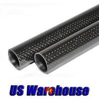 1-2pc 3K Glossy Carbon Fiber Tube 10mm 12mm 16mm 20mm 25mm 30mm x 500mm US