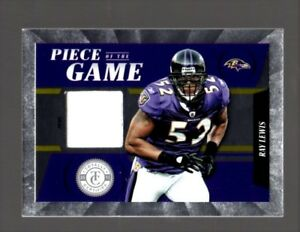 Ray Lewis RAVENS 2012 Totally Certified PRIME GAME-WORN JERSEY #d 14/49
