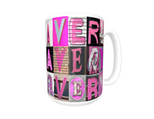 AVERY Coffee Mug / Cup featuring the name in photos of PINK sign letters