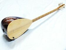 GANO: TURKISH MAHOGANY LONG NECK SAZ With ADJUSTABLE PICKUP W/ FREE CASE