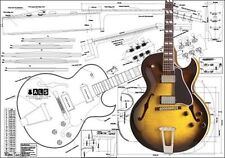 Gibson ES-175 Hollowbody Electric Acoustic Guitar Full-Scale Plan