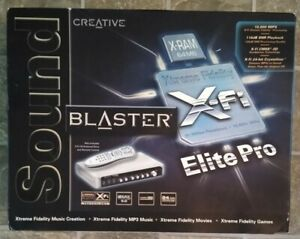 Creative Sound Blaster X-Fi Elite Pro SB0550 PCI Sound Card Remote & Console