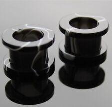 2 STÜCK UV Marmorlook Flesh Tunnels 8mm HPWSCR-0