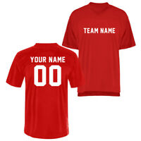 Customized Personalized Red Rugby Football Jersey Mens Womens Youth Uniforms