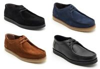 Lucini Mens Shoes Low Top Suede Leather Casual Smart Work Lace Up Boots UK 6-12