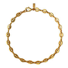 18K Gold Plated Gocciano Chain Anklet / Ankle Bracelet - LIFETIME WARRANTY