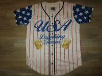 USA Olympic Drinking Team Baseball Softball Jersey LG L Adult
