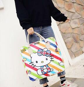 Women Girl's Hello Kitty cookie Handbag Luggage Bag Large Capacity handbags