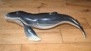BIG HUMPBACK WHALE solid plastic toy wild marine sea animal 38cm