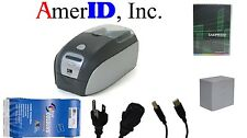 Zebra P110i Color ID Badge Card Printer System + Supply  90 Day Warranty Support