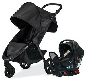 Britax B-Free Travel System Stroller with Endeavours Infant Car Seat Midnight
