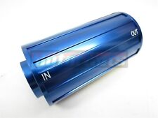 Billet Aluminum Blue Racing Inline Fuel Filter 34 16 Female Thread Hot Rat Rod
