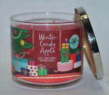Bath&Body Works Invierno Candy Apple Vela 429ml 3 Mecha Grande Rojo Navidad
