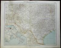 United States Texas New Mexico Oklahoma New Orleans 1936 large Italian map