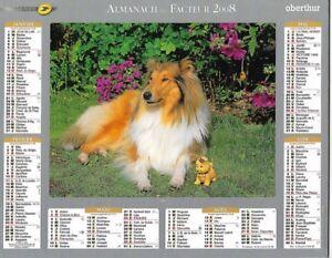 Almanach 2008 Calendrier de la poste PTT - HAUTE-SAONE 70  & Ter. de BELFORT 90