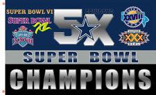 Dallas Cowboys Champion 5x Flag team Memorable flag 90x150cm 3x5ft best banner