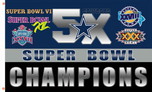 Dallas Cowboys Champion 5x Flag team Memorable flag 90x150cm 3x5ft best banner