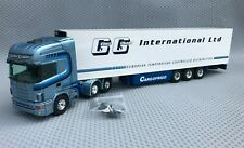 Tekno Scania 124L 420 6x2 Truck Geoff Gilbert With Fridge Trailer 1:50 Scale
