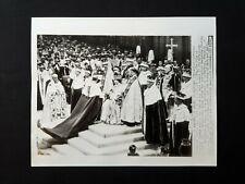 1953 Antique Official Royal Press Photograph Queen Elizabeth II Coronation ERII