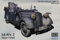 Master Box 1:35 German Military Radio Car WWII Era Sd.Kfz.2 170VK Kit #MB3531U