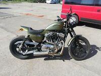 Harley Davidson sportster custom fibreglass street tracker seat unit