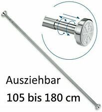 Duschstange Teleskop 75-220 cm Dusch Vorhang Stange Klemm Ausziehbar Ohne Bohren
