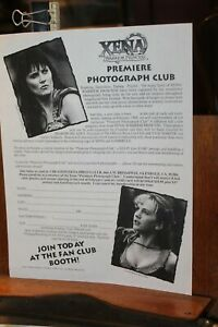 Vintage XENA Warrior Princess Lucy Lawless Fan Club Coupon Photos