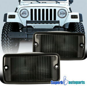 For 1997-2006 Jeep Wrangler Front Parking Lights Signal Lamps Pair Replacement