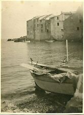 PHOTO CORSE  ERBALUNGA BATEAU DE PECHEUR 1925 FORMAT 24 X 17