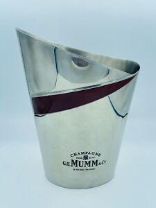 Seau A Champagne Metal Argenté Mumm
