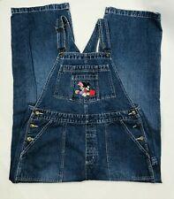 Disney Womens Xlarge Overalls Jean Mickey Minnie Vintage Bib Carpenter Pants