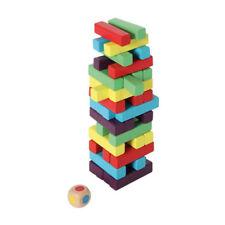 Bartl 1093 stapeltum Multicolor Juego de habilidad Madera Torre Balance NUEVO !#
