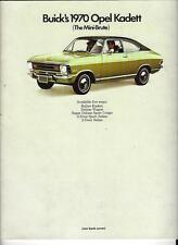 1970 Buick Opel Kadett Dealer's Sales Booklet,Rallye Kadett,Wagon,Sport Coupe ++
