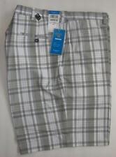 Haggar Mens Cool 18 Grey Plaid Flex Waist Golf Shorts Size 44W NEW $48