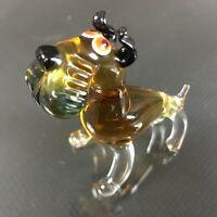 Hund Riesenschnauze Lauscha Murano 70er Figur Glasfigur Glastier Glas Tier 15DB3