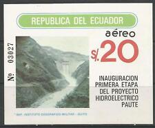 stamps-ecuador. 1983. PAUTE hyrdo électrique projet MINIATURE feuille Sg :