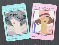 Playing Swap Cards 2 GENUINE VINT  TRUE  DECO VOGUE  LADIES  MINT  STUNNING #272