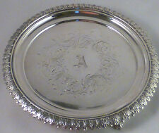 COIN SILVER LINCOLN & REED BOSTON FANCY FOOTED SALVER-8 1/2""