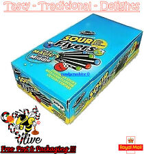 Maxilin Limited Edition Sour Liquorice Flyers 20p - 40 in a each box DAMAGED OOD