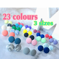 Handmade Round Earrings - 8mm/ 10mm/ 12mm Polymer Clay Surgical Steel Stud