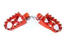 KTM SX450 SX500 SX525 Foot pegs Footrests  WIDE FAT Anodized Orange