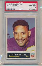1965 Philadelphia Gum Jim Marshall (#107) PSA8 PSA (#232090681587)