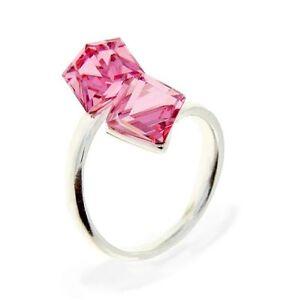 925 Silber Ring mit Swarovski Kristall 925 Silberringe Damen Ring Luxus Ring Neu