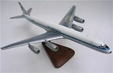 DC-8 Pan-Am Airlines Douglas Airplane Mahogany Wood Model Large New