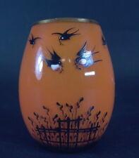 Art Deco Tangoglas  -  Schwarzlotbemalung -  Vögel