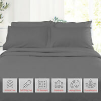 Double Brushed Soft Microfiber Hotel Style Bed Sheets, Deep Pocket Sheet Set