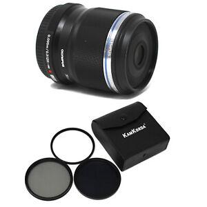 Olympus M.Zuiko Digital ED 30mm f/3.5 Macro Lens + Filter Kit - UK NEXT DAY DEL
